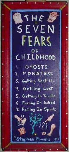 list of fears