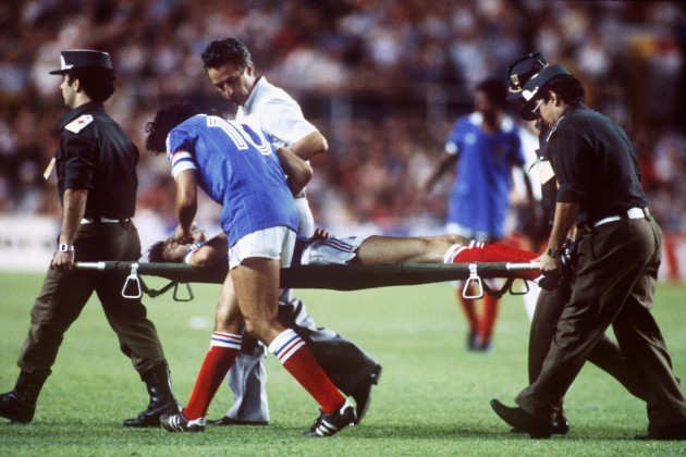 Patrick Battiston 1982 World Cup injury